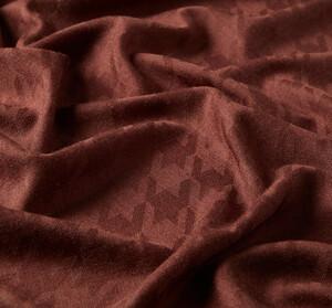 ipekevi - Acı Kahve Kaz Ayağı Desenli Yün İpek Şal (1)