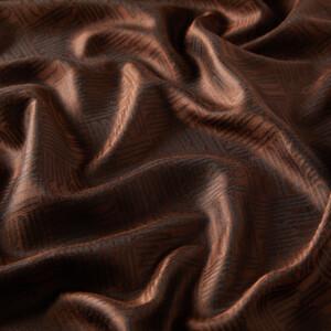 ipekevi - Acı Kahve Qufi Pattern İpek Şal (1)