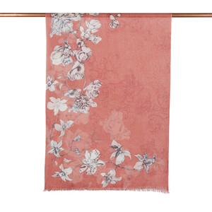 ipekevi - Bakır Kış Gülleri Desenli Şal (1)