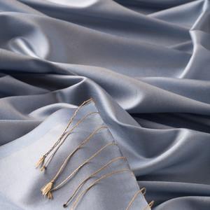 ipekevi - Bebe Mavisi Düz İpek Şal (1)
