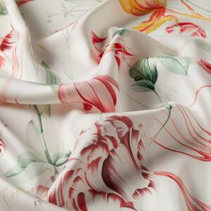 - Beyaz Melancholia Desenli Tivil İpek Eşarp (1)