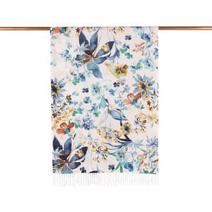 - Beyaz Mavi Botanik Bahçe Desenli İpek Şal (1)