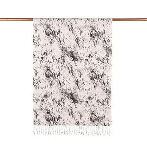 - Beyaz Siyah Mermer Desenli İpek Şal (1)