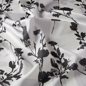 - Beyaz Vintage Silhouette Desenli Tivil İpek Eşarp (1)