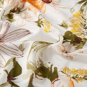 ipekevi - Beyaz Yeşil Bahar Rüyası Desenli Modal İpek Şal (1)