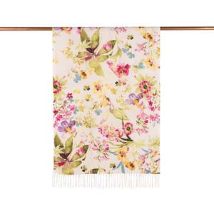 - Beyaz Yeşil Botanik Bahçe Desenli İpek Şal (1)