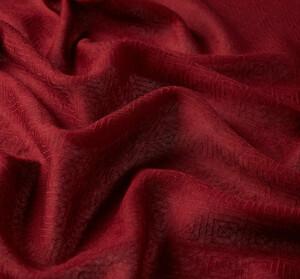 ipekevi - Bordo İkat Desenli Yün İpek Şal (1)