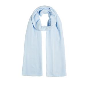 ipekevi - Buz Mavisi İkat Pamuk İpek Şal (1)