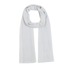 ipekevi - Buz Beyazı Maze Desenli Pamuk Şal (1)