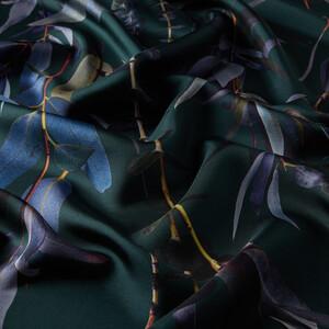- Çam Yeşili Okaliptus Desenli Tivil İpek Eşarp (1)