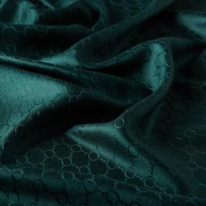 - Çam Yeşili Desenli İpek Fular Şal (1)