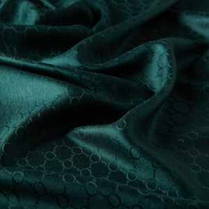 ipekevi - Çam Yeşili Desenli İpek Fular Şal (1)