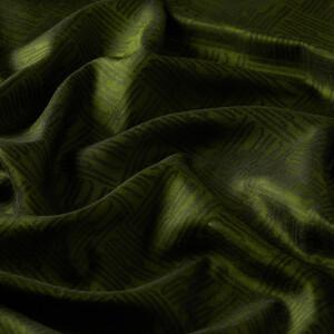 ipekevi - Ceviz Yeşili Qufi Pattern İpek Şal (1)