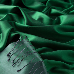 ipekevi - Elmas Yeşili Çift Taraflı İpek Şal (1)
