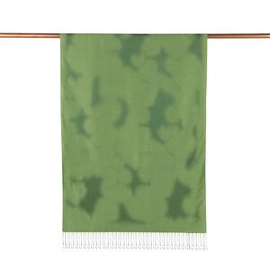 ipekevi - Fıstık Yeşili Püskürtme Desenli İpek Şal (1)