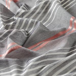 ipekevi - Füme Perspektif Çizgi Desenli Pamuk İpek Şal (1)