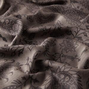 ipekevi - Lacivert Yaprak Paisley Desenli Yün İpek Şal (1)