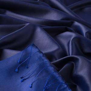 Gece Mavisi Çift Taraflı İpek Şal - Thumbnail