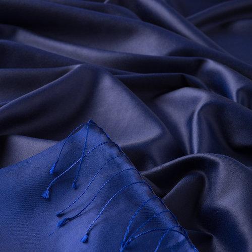 Gece Mavisi Çift Taraflı İpek Şal