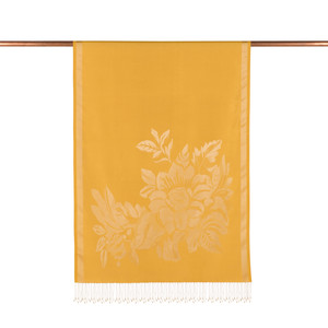 ipekevi - Gold Has Bahçe Desenli İpek Şal (1)