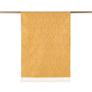 ipekevi - Gold Lale Desenli İpek Şal (1)