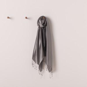 Gümüş İpek Fular Şal - Thumbnail