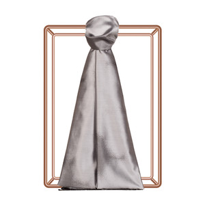 Gümüş Püskürtme Desenli İpek Şal - Thumbnail
