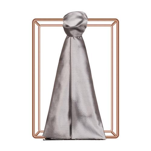 Gümüş Püskürtme Desenli İpek Şal