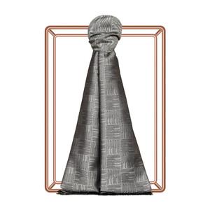 Gümüş Qufi Pattern İpek Şal - Thumbnail