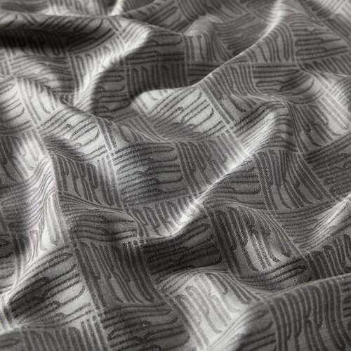 Gümüş Qufi Pattern İpek Şal