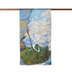 ipekevi - Güneş Şemsiyeli Kadın Saten İpek Fular Şal (1)