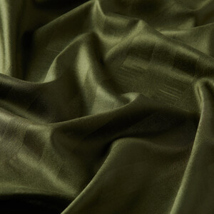 ipekevi - Haki Yeşili Mono Panjur İpek Şal (1)