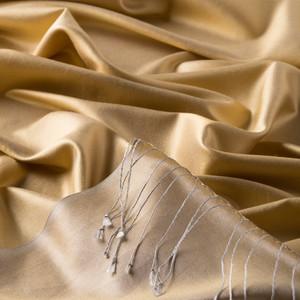 ipekevi - Hasat Sarısı Çift Taraflı İpek Şal (1)