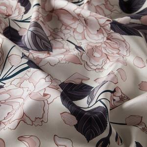 ipekevi - İnci Beyazı Sakura Desenli Tivil İpek Eşarp (1)