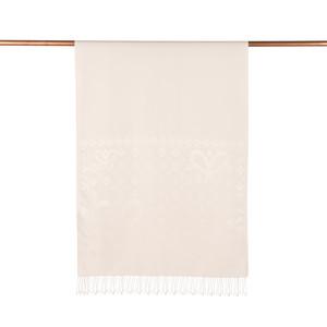 ipekevi - İnci Beyazı Semi Monogram Desenli İpek Şal (1)