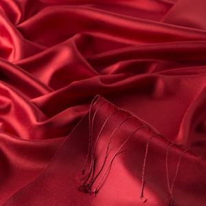 Kırmızı Çift Taraflı İpek Şal - Thumbnail