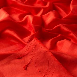 - Kırmızı Mono Panjur İpek Şal (1)