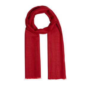 - Kırmızı Şeritli Pamuk İpek Şal (1)