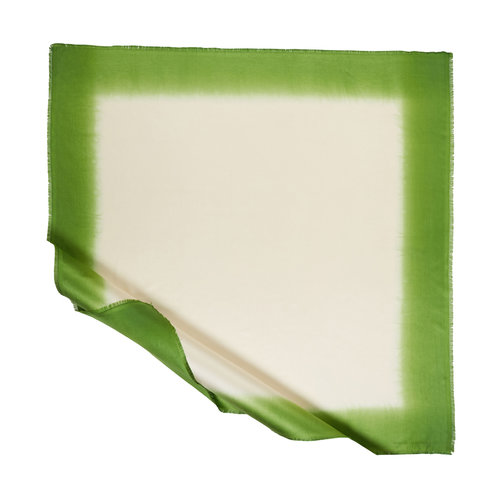 Krem Yeşil Degrade İpek Eşarp