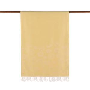 ipekevi - Limon Sarısı Menekşe Desenli İpek Şal (1)