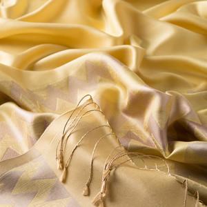 - Limon Sarısı Zig Zag Desenli İpek Şal (1)