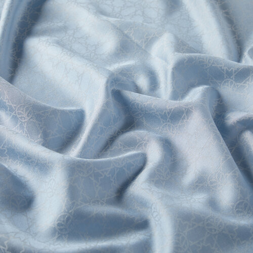 Mini Seljuk Monogram Bebe Mavisi Desenli Şal