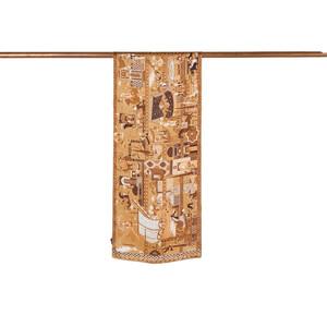 - Miniature Gold Saten İpek Fular (1)