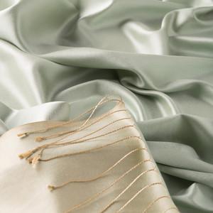 ipekevi - Mint Yeşili Çift Taraflı İpek Şal (1)