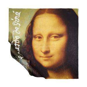Mona Lisa Saten İpek Eşarp - Thumbnail