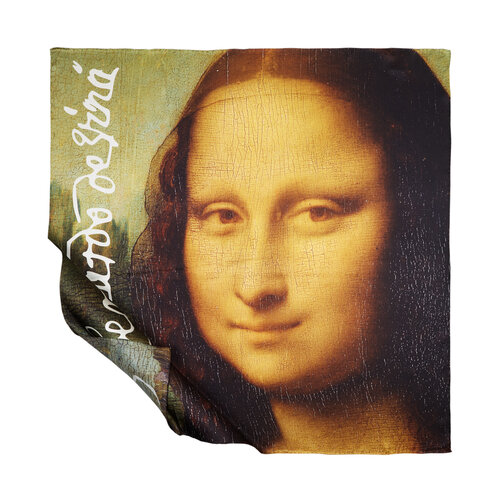 Mona Lisa Saten İpek Eşarp