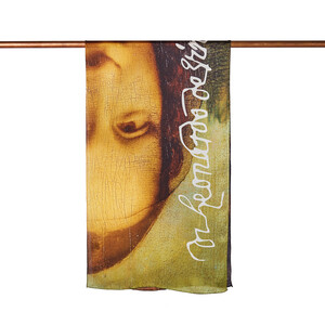 - Mona Lisa Saten İpek Fular Şal (1)