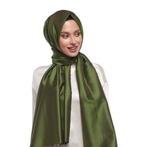 Osmanlı Yeşili Çift Taraflı İpek Şal - Thumbnail
