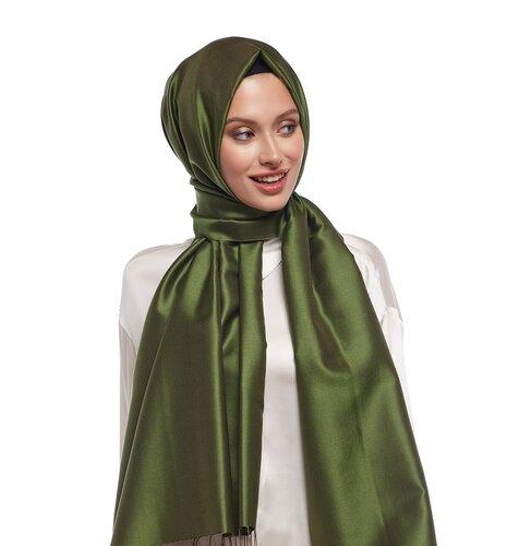 Osmanlı Yeşili Çift Taraflı İpek Şal