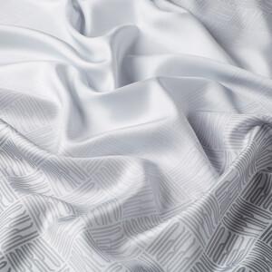 ipekevi - Qufi Pattern Gümüş Tivil İpek Eşarp (1)